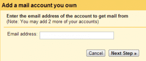 Adding Email Address Form Step 1