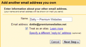 Adding Email Address Form Step 5