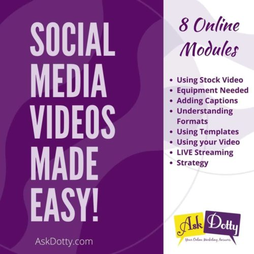 Social Media Videos Course Graphic