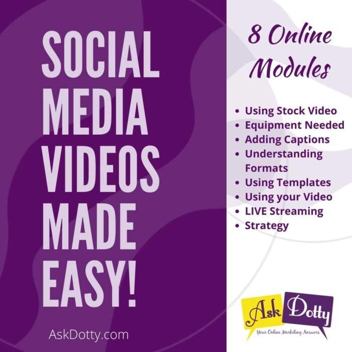 Social Media Videos Course Graphic